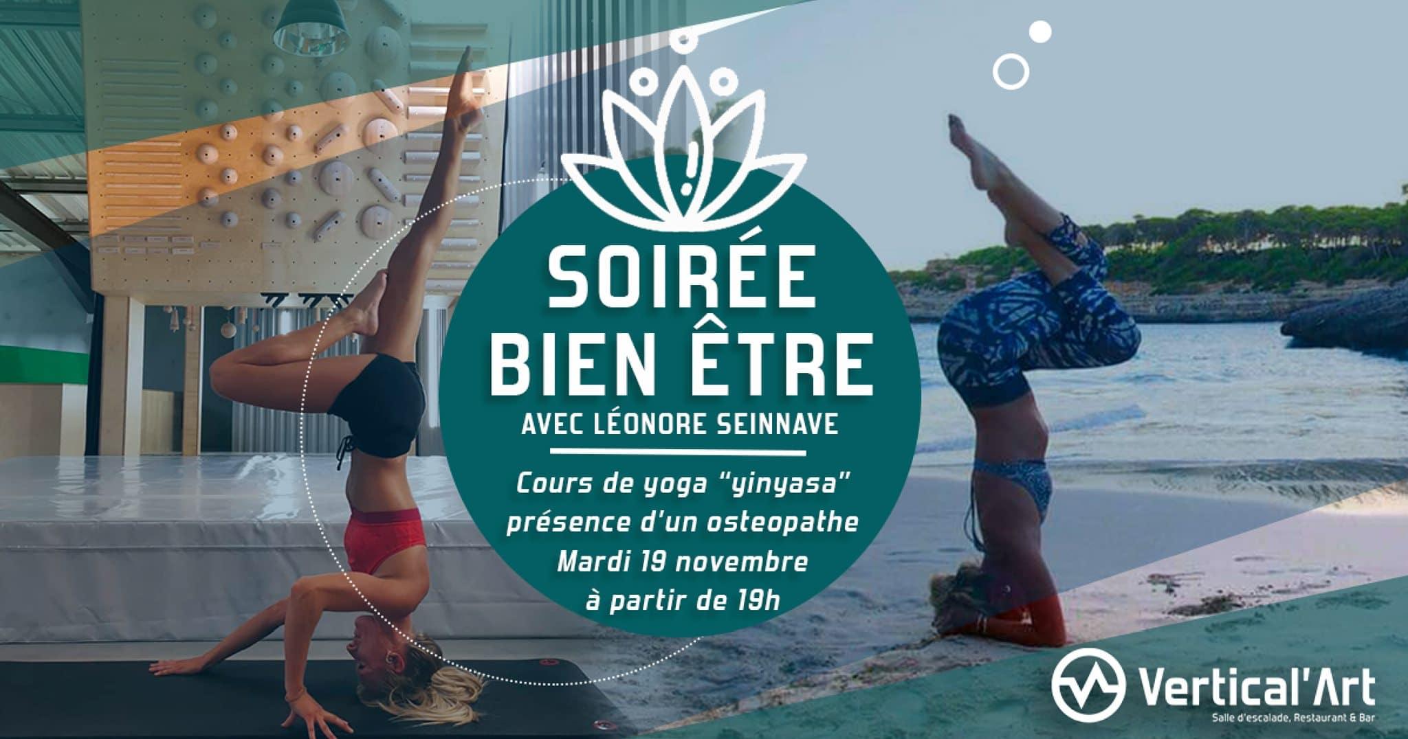 cours de yoga - Vertical'Art - Lille - salle d'escalade de bloc - restaurant et bar
