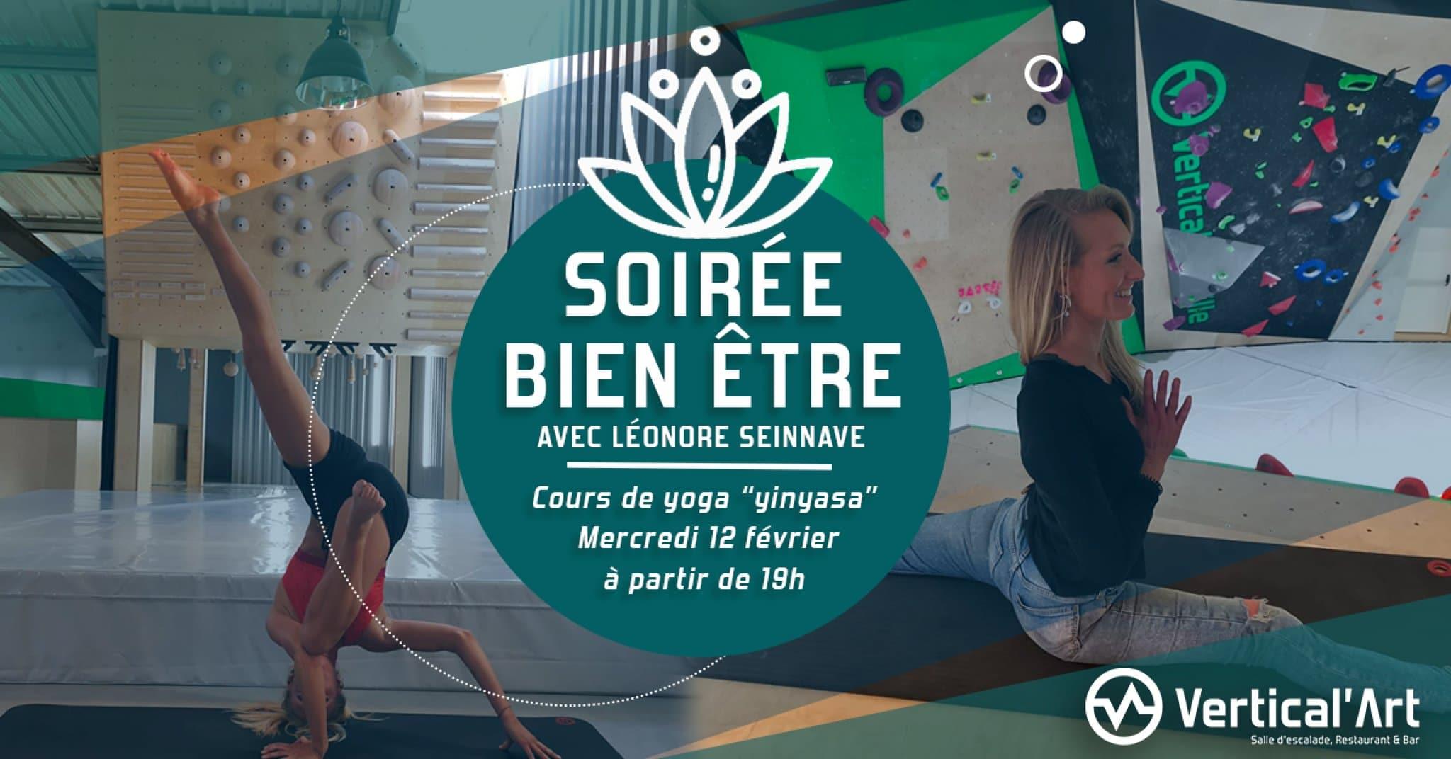Soire Bien etre Vertical'art Lille -Soirée Yoga - Soirée à Vertical'Art Lille - Soirée bien être à Vertical'Art Haut de France -