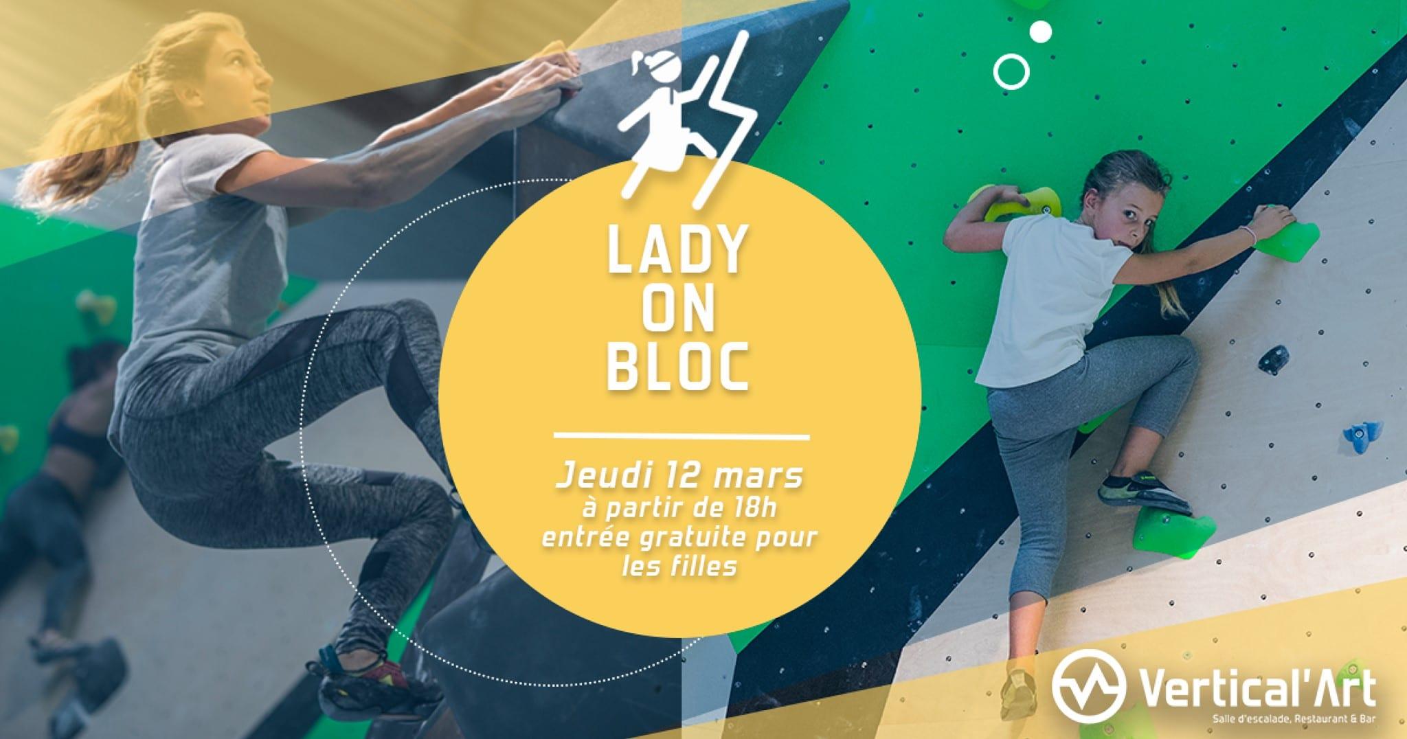 Vertical'Art Lille - Lady on bloc - Soirée Filles - Gratuit pour les filles