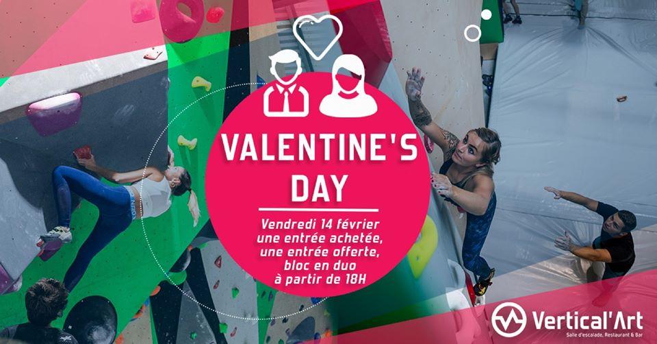 Soirée saint Valentin- Vertical'art lille- soirée des amoureux dans une salle de bloc- confiance et amour-