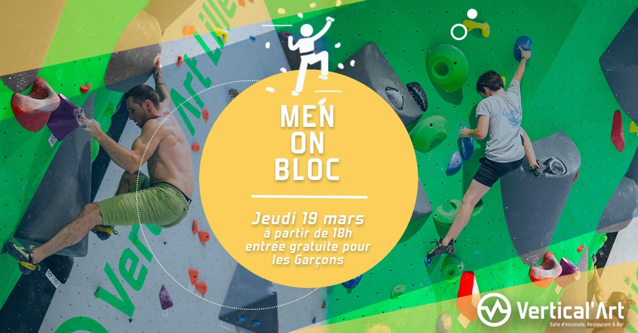 Vertical'Art Lille - Men on bloc - Gratuit pour les hommes - Sortie sportive à Lille - Vertical'Art Haut-de-France -