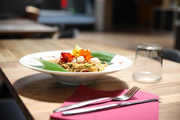 plat du jour à base de produits frais et locaux à Vertical'Art lille manger sains dans notre restaurant bar