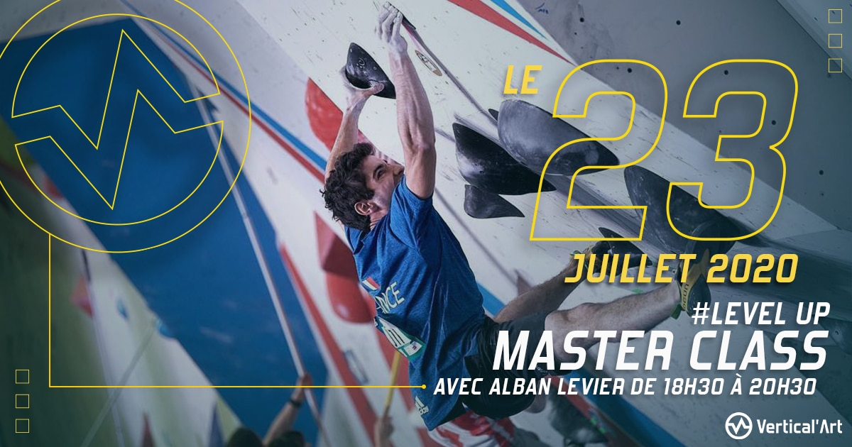 master class Alban levier - cours - perfectionnement - escalade - bloc - athlete