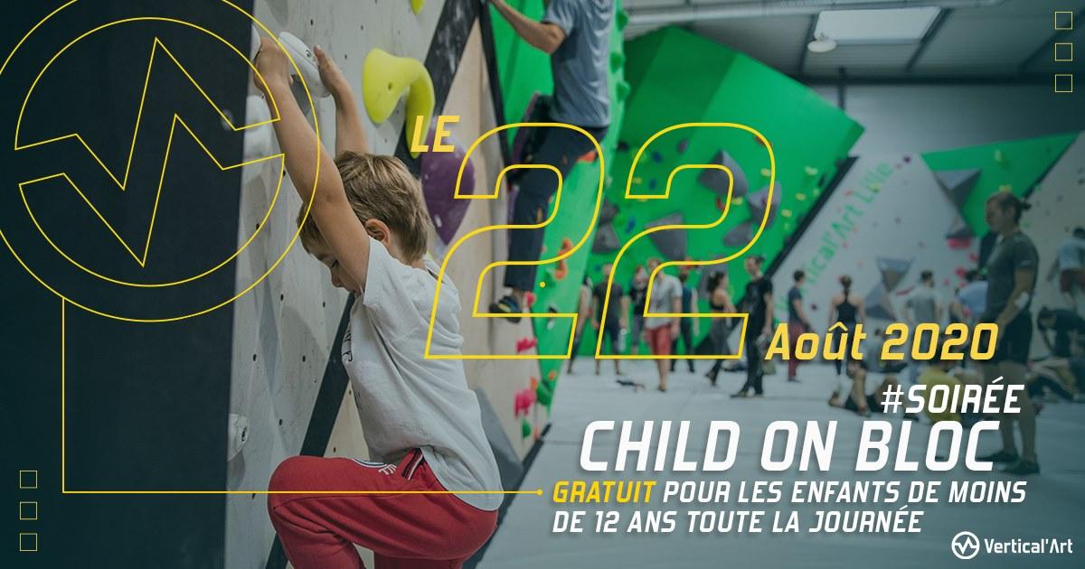 journée child on bloc, vertical art lille, gratuit pour les enfants de moins de 12 ans, escalade en famille, apprendre l'escalade en s'amusant, escalade pour enfants