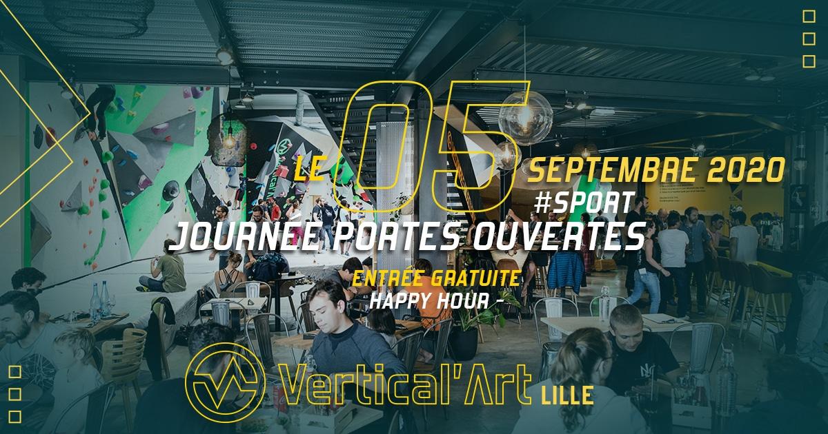 journée portes ouverte à Vertical'Art Lille salle d'escalade restaurant et bar