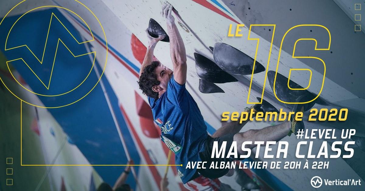 master class level up spéciale flow avec alban levier pour apprendre à grimper dans l'état d'esprit idéal
