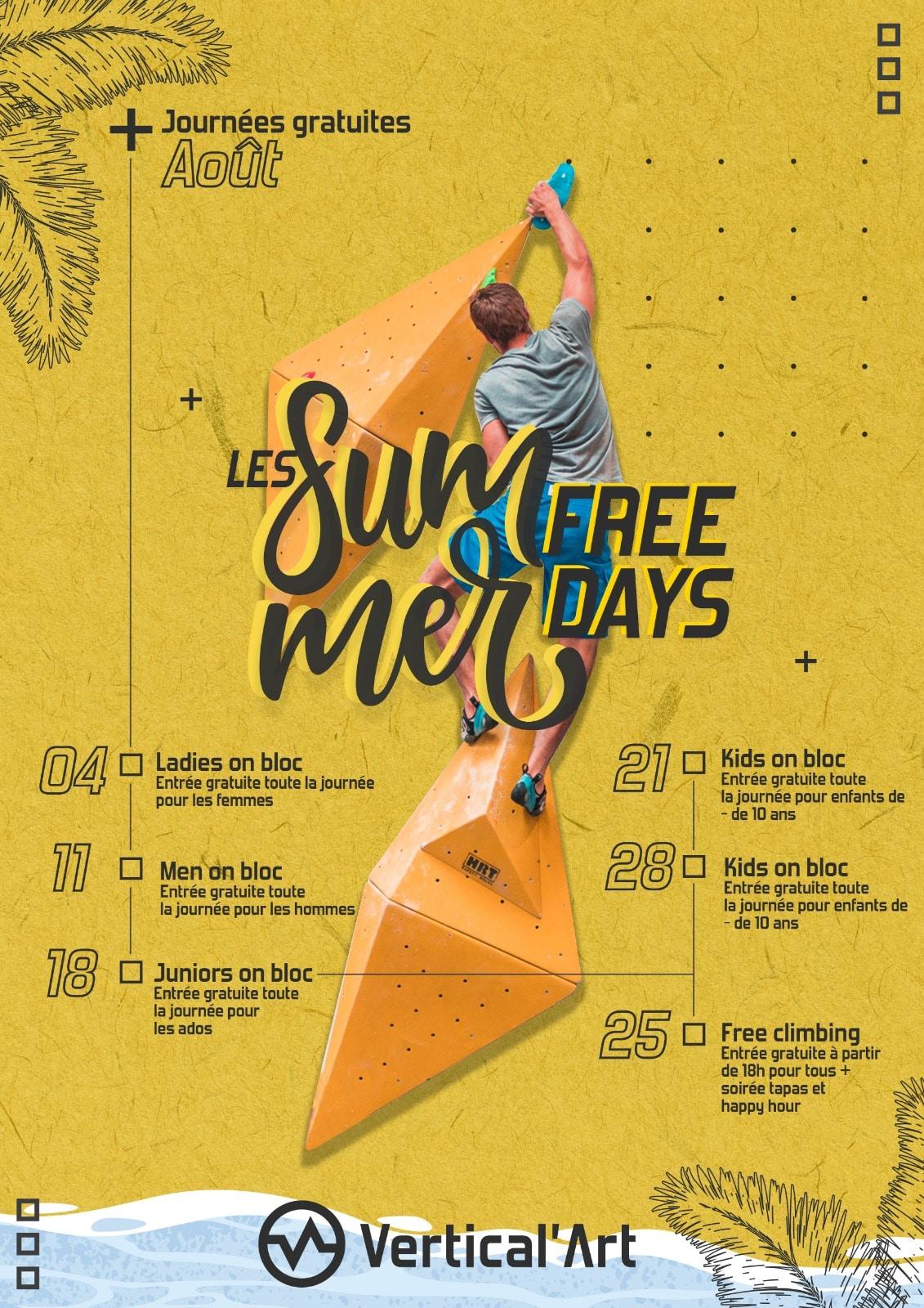 Summer Free Days Vertical'Art Lille août 2021