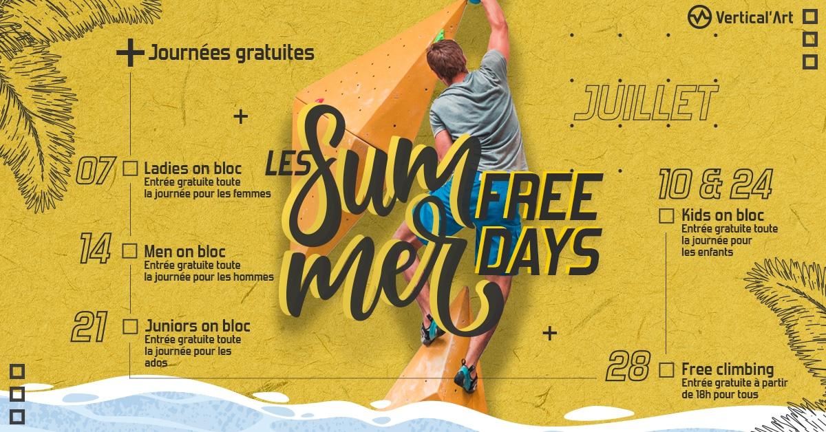 les summer free day chez vertical'art- Lille - salle d'escalade restaurant et bar journée gratuite