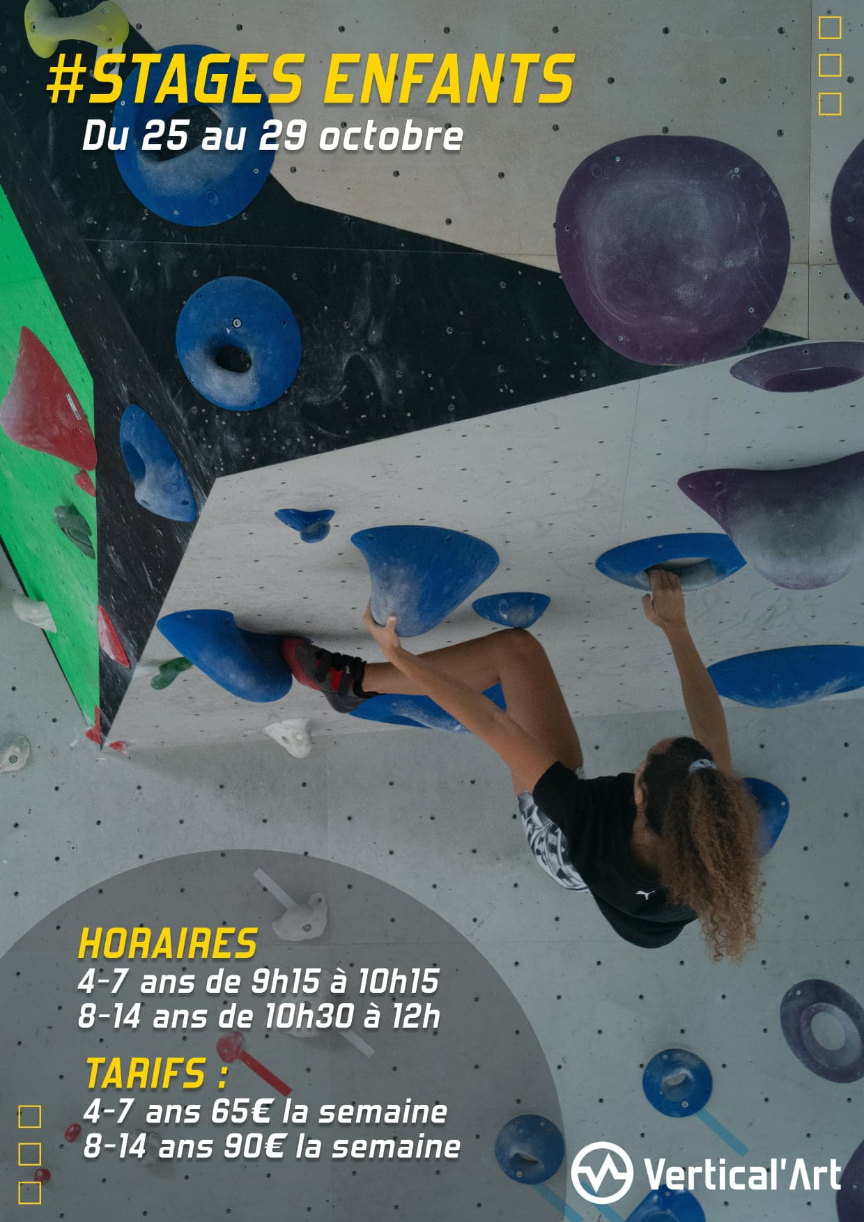 Stages enfants vacances de la Toussaint à Vertical'Art Lille, du 25 au 29 octobre, inscriptions ouvertes